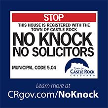 No Knock, No Solicitors Sign